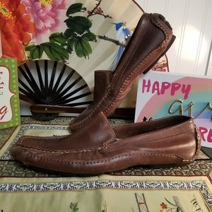 """Clarks """"Ashmont"""" Leather Driving Moccs 10M"""